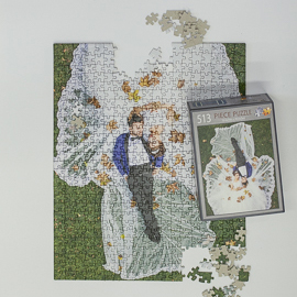 Photo puzzles can make unique guestbooks at weddings.
