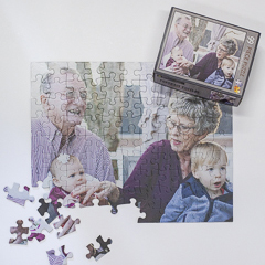 Grandparents can give photo puzzles to the kids and grandchildren.