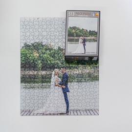 Wedding photo puzzles are a popular keepsake.