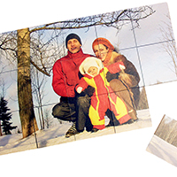 "Straight-Edged with Rectangular Pieces.  16"" X 10"" 15 Piece Puzzle."